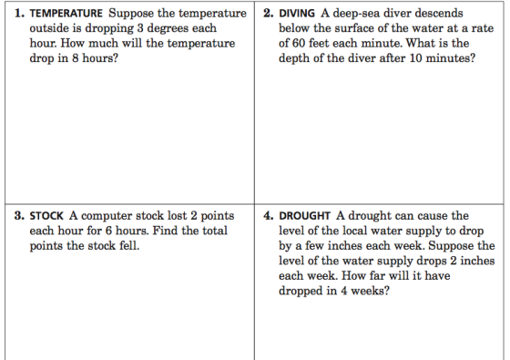 September 2012 – Subtracting Integers Word Problems Worksheet